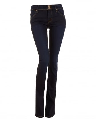 Womens Beth Baby Bootcut Mid-Rise Indigo Jeans