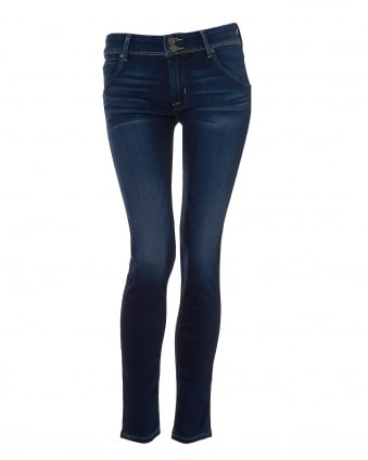 Womens Colin Jeans, Skinny Fit Dark Wash Denim