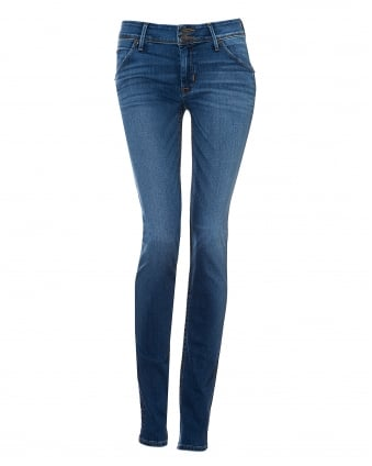 Womens Colin Jeans, Skinny Fit Mid Light Wash Denim