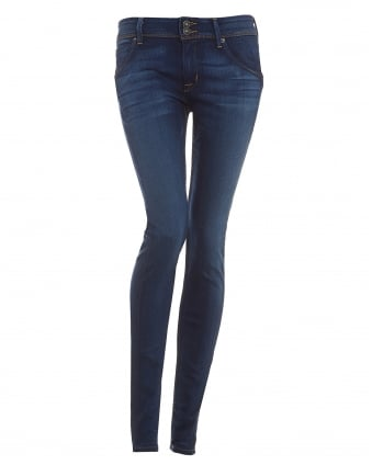 Womens Collin Skinny Jeans, Revelation Blue Denim
