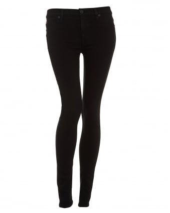 Womens Nico Jeans, Black Mid Rise Super Skinny Denim
