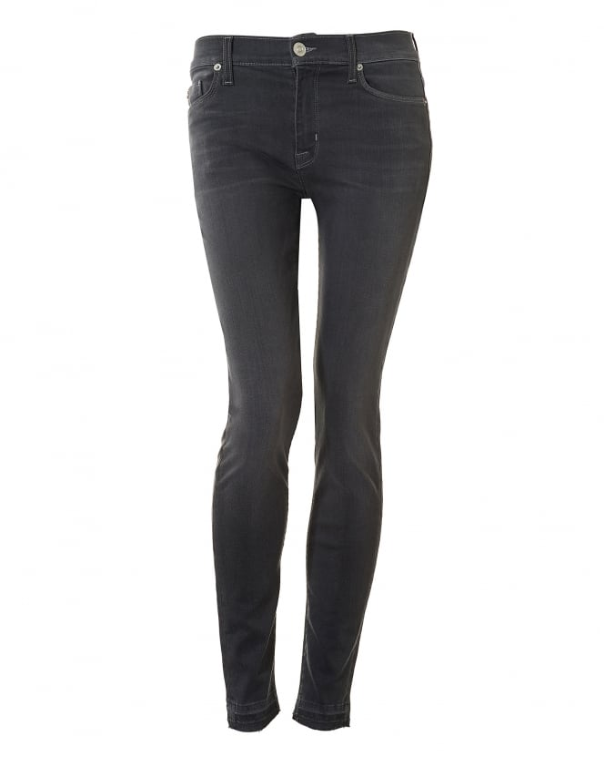 Hudson Jeans Womens Nico Jeans, Released Hem Mid Grey Denim