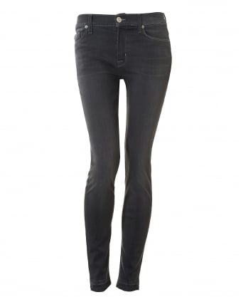 Womens Nico Jeans, Released Hem Mid Grey Denim