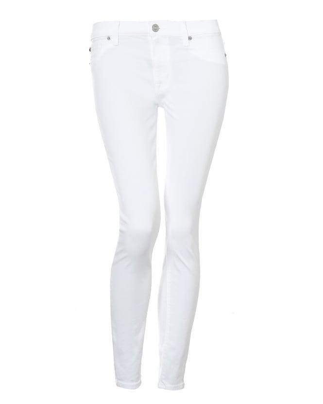 Womens Nico Jeans, Skinny Ankle Crop White Denim