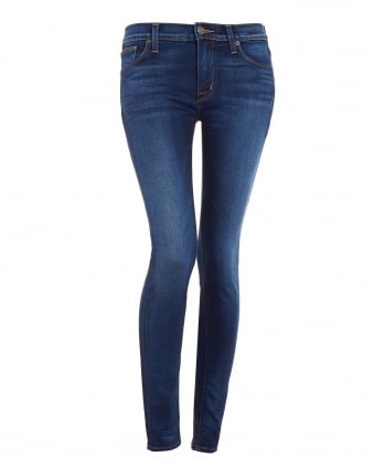 Womens Nico Mid-Rise Mid Wash Super Skinny Jeans