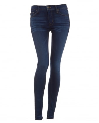 Womens Nico Mid-Rise Revelation Wash Super Skinny Jeans