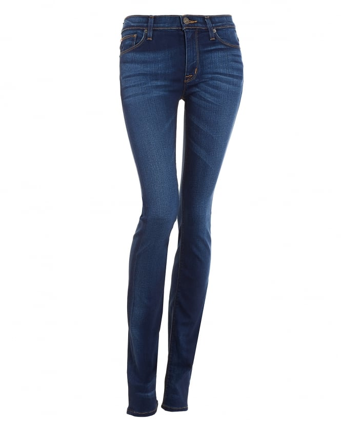 Hudson Jeans Womens Tilda Cigarette Mid-Wash Straight Jeans