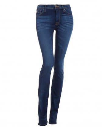 Womens Tilda Cigarette Mid-Wash Straight Jeans