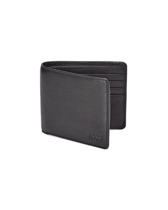 Hugo Boss Black Bardio Black Leather Billfold Wallet