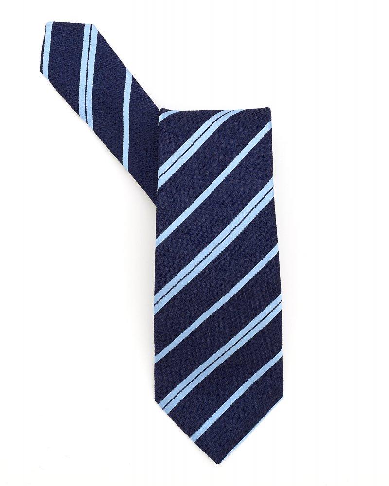 Classic Tie Blue Diagonal Stripe Silk Tie