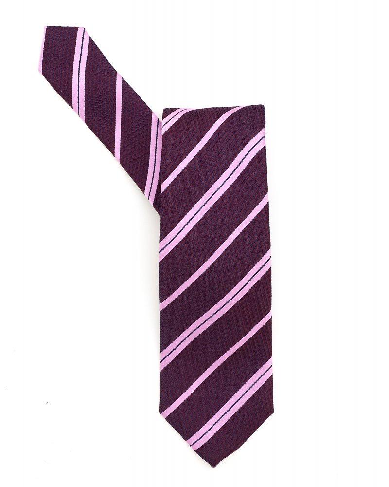 Silk tie with diagonal stripes HUGO BOSS WWzqR