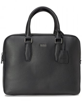 Gardo Black Leather Laptop Bag
