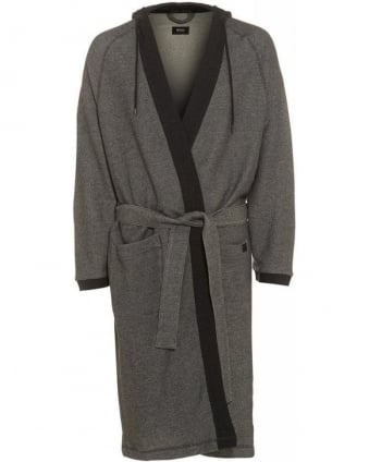 Grey Anthracite Heritage Hooded Robe Dressing Gown