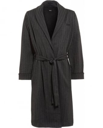 Hugo Boss Black Herringbone Grey Dressing Gown