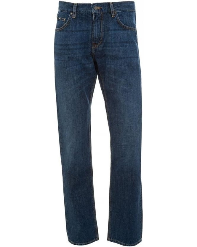 Hugo Boss Black Jeans, Mid Wash Regular Fit 'Maine1' Jean