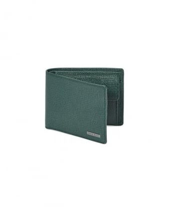 Loano Textured Green Billfold Leather Wallet