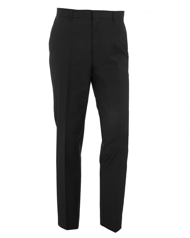 Hugo Boss Black Mens Balte Slim Fit Stretch Wool Charcoal Grey Trousers