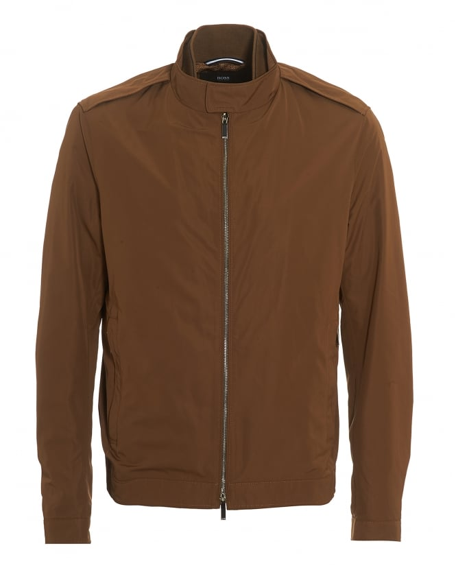 Hugo Boss Black Mens Cael Jacket, Half Lined Tan Blouson Jacket