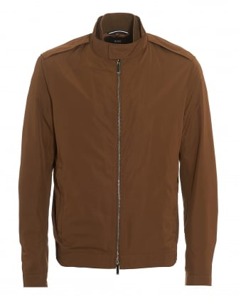 Mens Cael Jacket, Half Lined Tan Blouson Jacket