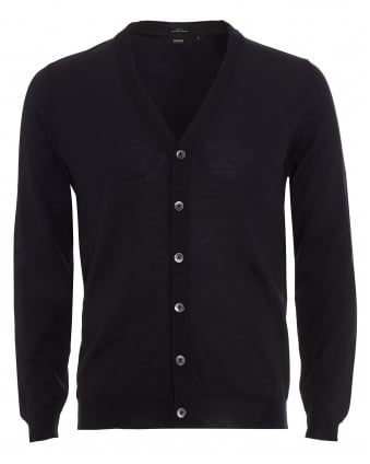 Mens Cardigan, Mardon-B Slim Fit Navy Blue Jumper