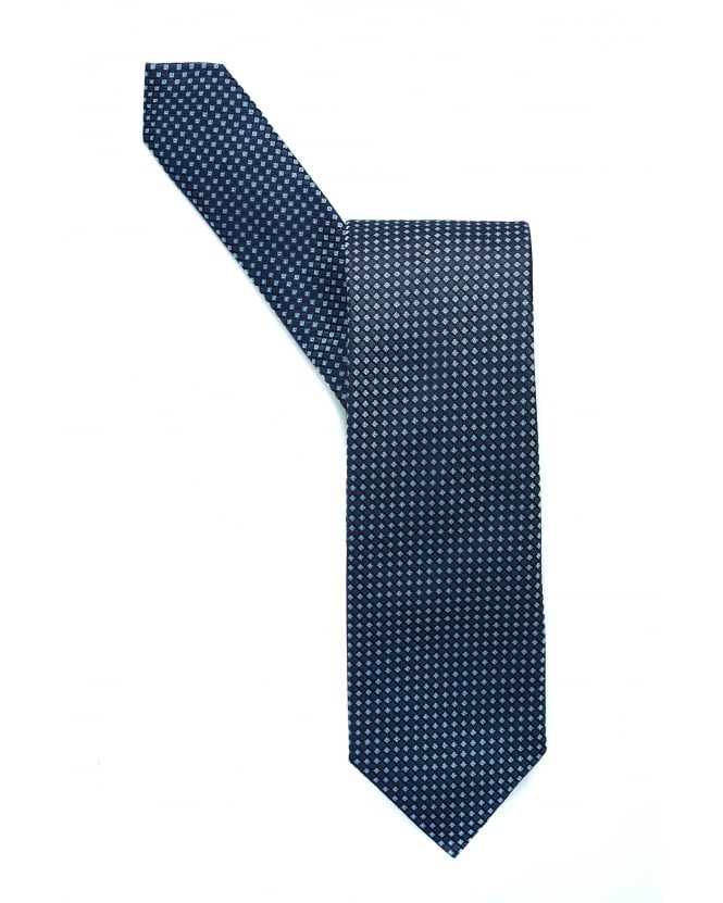 BOSS Business Mens Classic Navy Squares Silk Tie
