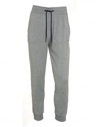 Mens Cotton Grey Cuffed Trackpants