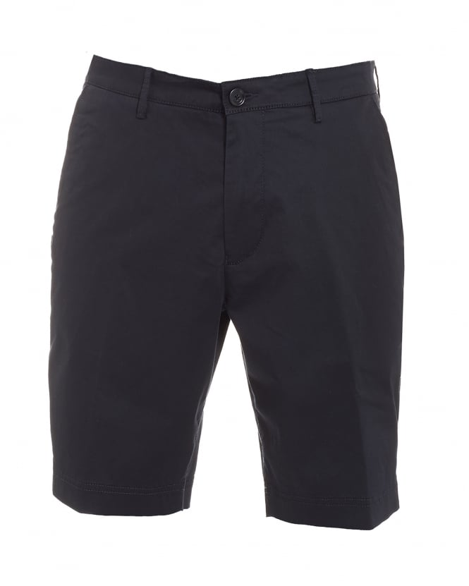 Hugo Boss Black Mens Crigan-Short-W, Navy Blue Regular Fit Cotton Shorts