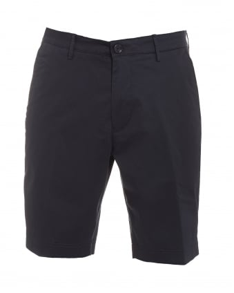 Mens Crigan-Short-W, Navy Blue Regular Fit Cotton Shorts