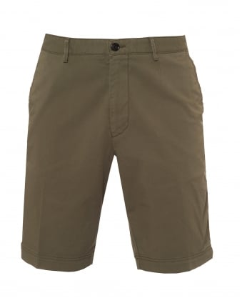 Mens Crigan Shorts, Stretch Gab Olive Green Shorts