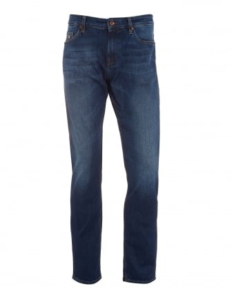 Mens Delaware3 Jeans, Blue Faded Denim