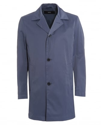 Mens Dias 12 Raincoat, Blue Steel Waterproof Jacket