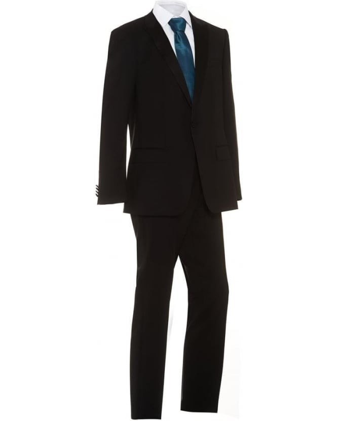 Hugo Boss Black Mens Dinner Suit Houston Glorious Black Slim Fit Suit