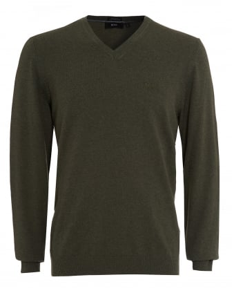 Mens Fillpp-O Jumper, Khaki Green Sweater
