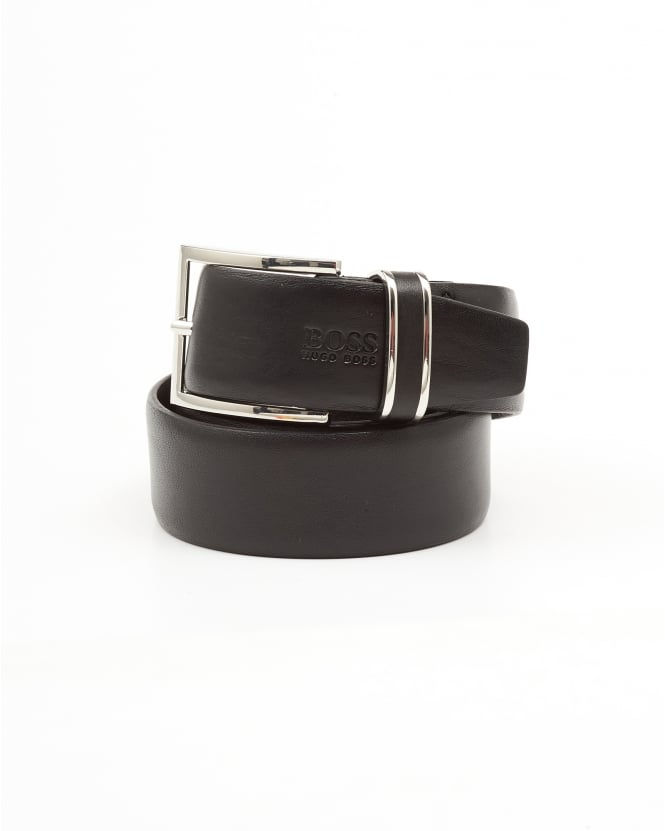 Hugo Boss Black Mens Froppin Business Leather Black Belt