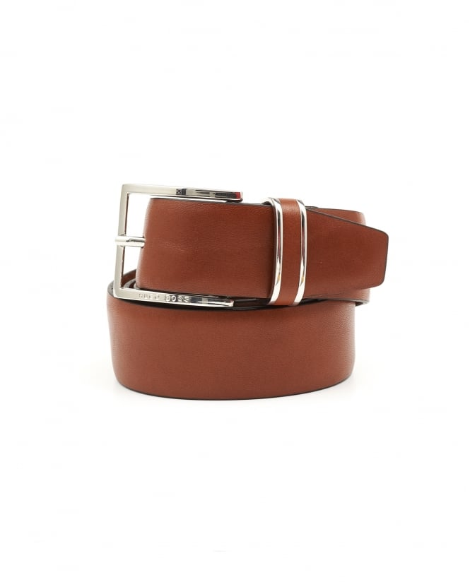 BOSS Business Mens Froppin Business Leather Tan Belt