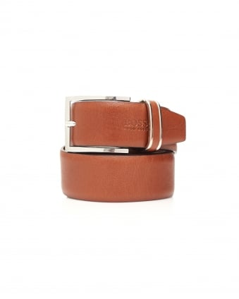 Mens Froppin Tan Smooth Leather Belt