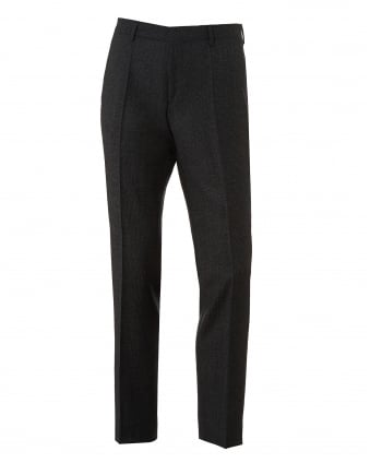 Mens Genesis3 Textured Plain Finish Charcoal Grey Trousers