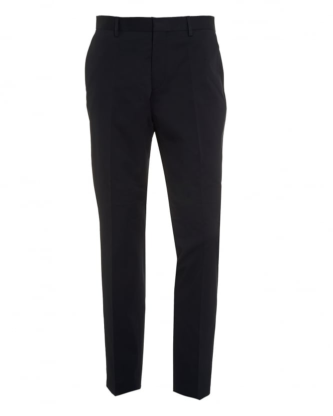 Hugo Boss Black Mens Genisis Chinos, Cotton Stretch Navy Blue Trousers
