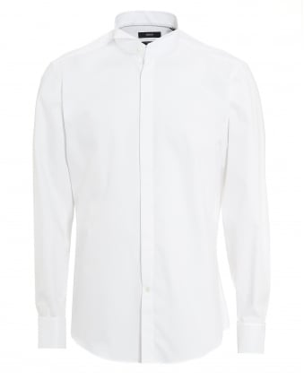 Mens Gewen Regular Fit White Dress Shirt