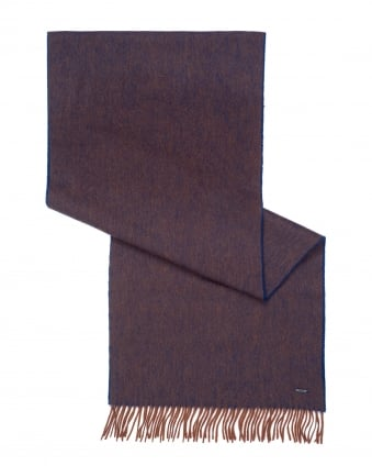 Mens Heroso 01 Two Toned Choc Brown Scarf