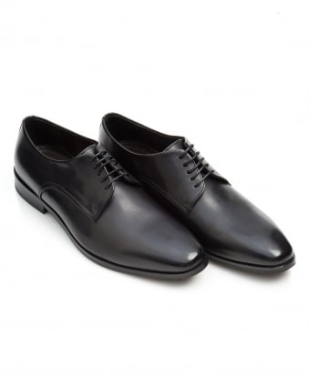 Mens Highline Derby Cut Plain Black Shoes