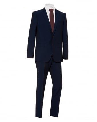 Mens Huge Genius Slim Fit Navy Blue Suit