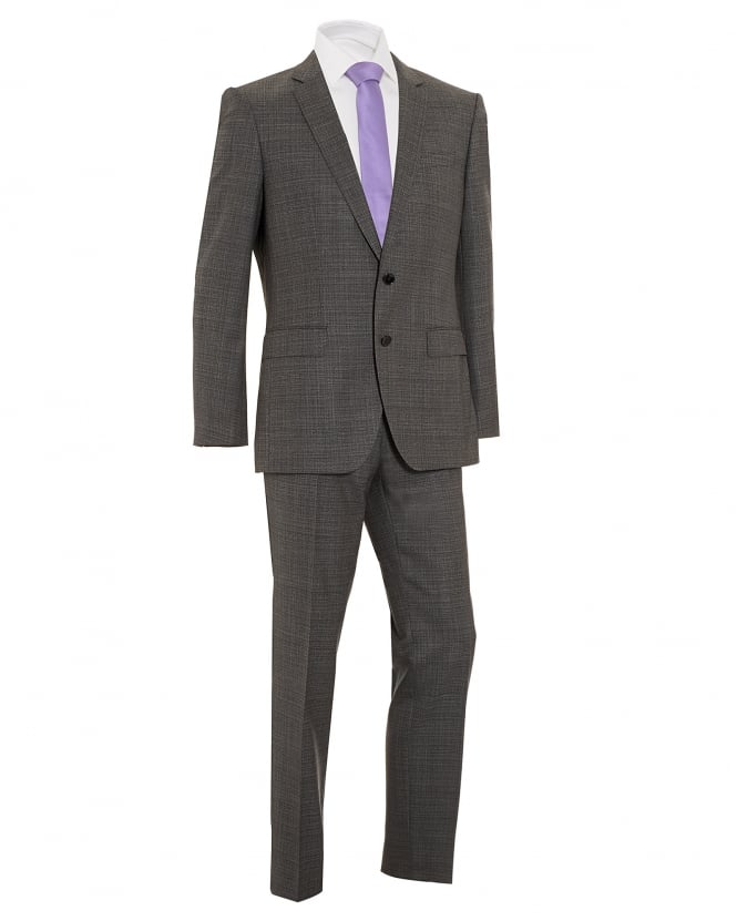 Hugo Boss Black Mens Huge4/Genius3 Grey Virgin Wool Suit