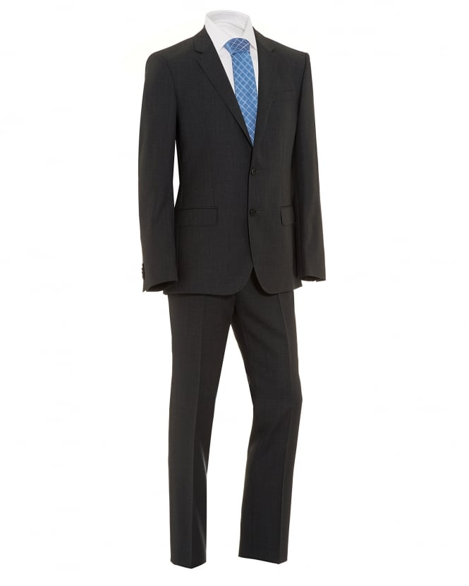 Hugo Boss Black Mens Huge4 Genius3 Suit, Dark Grey Slim Fit Suit