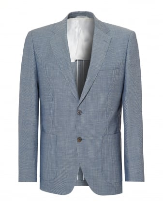 Mens Janson Blazer, Sky Blue Regular Fit Jacket. BOSS ...
