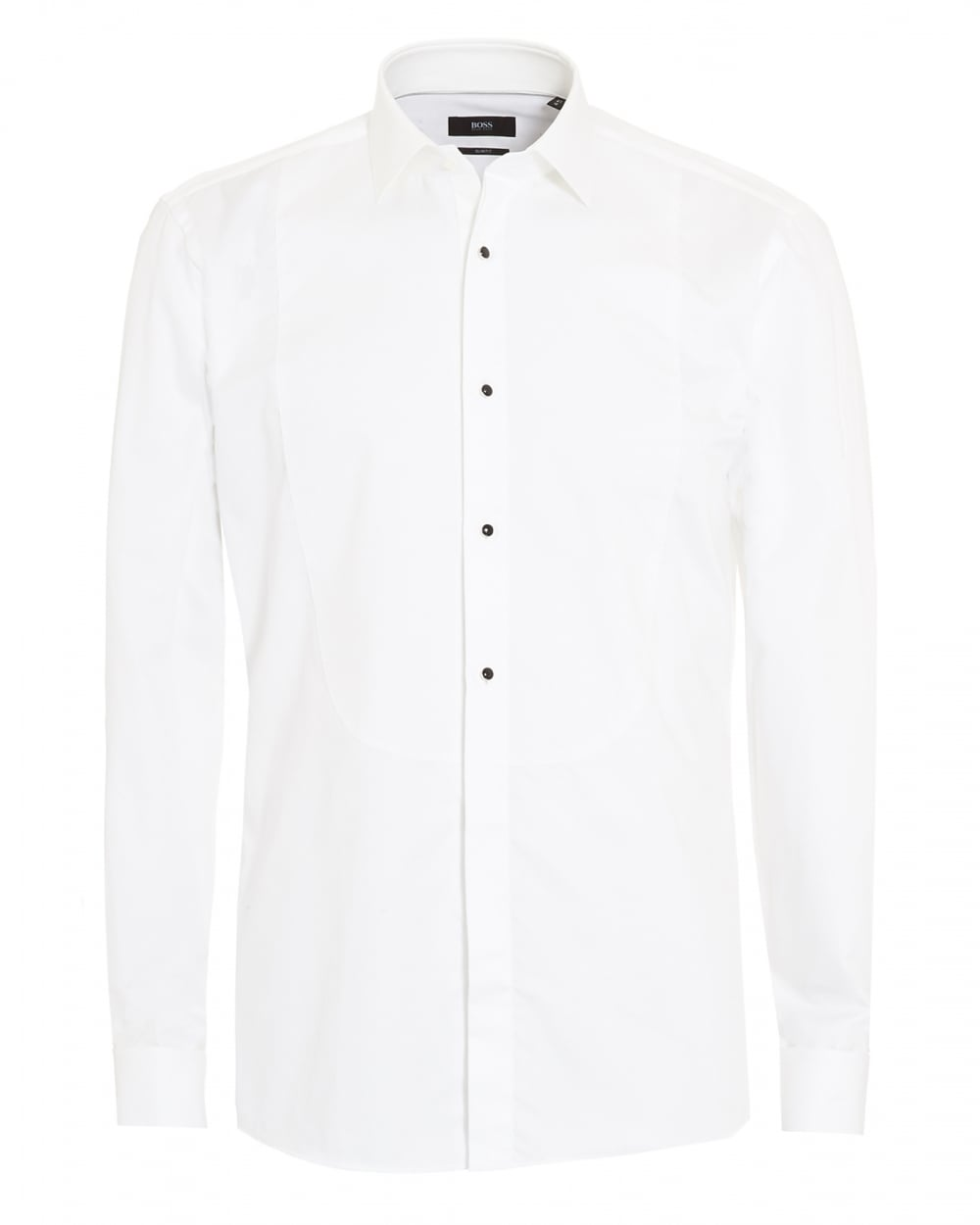 Hugo Boss Classic Mens Jant Plain White Slim Fit Dress Shirt
