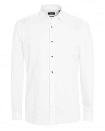 Mens Jant Plain White Dress Shirt