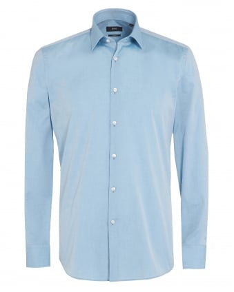 Mens Jenno Shirt, Aqua Blue Slim Fit Shirt