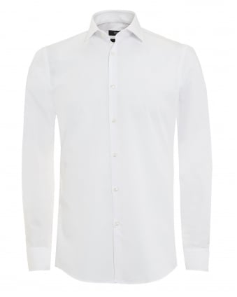 Mens Jenno Shirt White Plain Formal Slim Fit Shirt