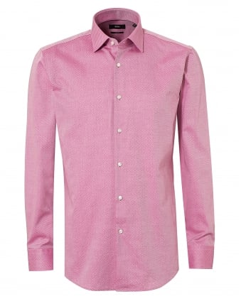 Mens Jenno Subtle Check Pink Sky Shirt